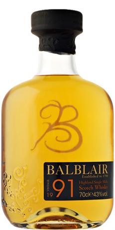 Balblair Scotch Single Malt 1991